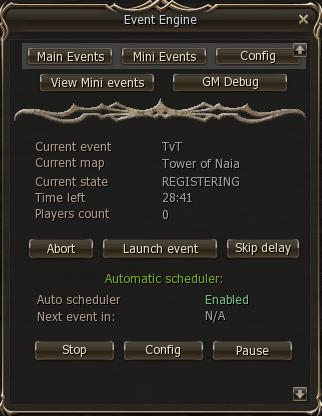 l2j sunrise event board