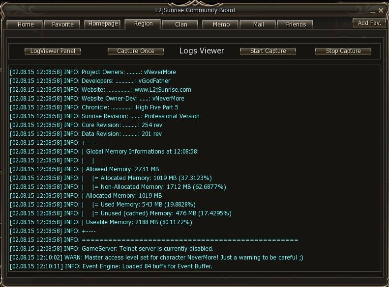 l2j sunrise admin logs viewer